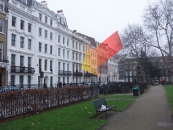 12 bloomsbury square from the park