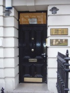 door of 12 bloomsbury square