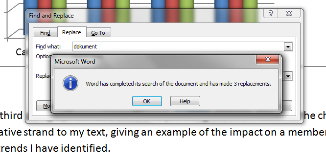 how to find and replace words in office 2010