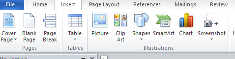 How to add a diagram to a word 2010 document with smartart graphics insert menu for smart art word 2010 ccuart Choice Image