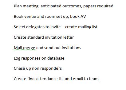 create checklist