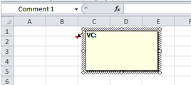 how to add a hidden note in excel