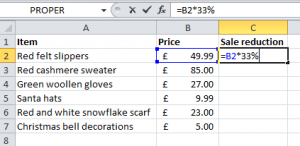 Formula to find percentage in Microsoft Excel?