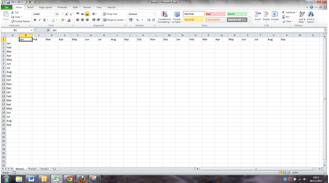 how to change vertical to horizontal in excel