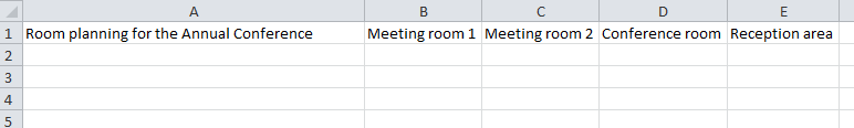 how to make headings stay in excel