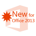 new for microsoft office 2013
