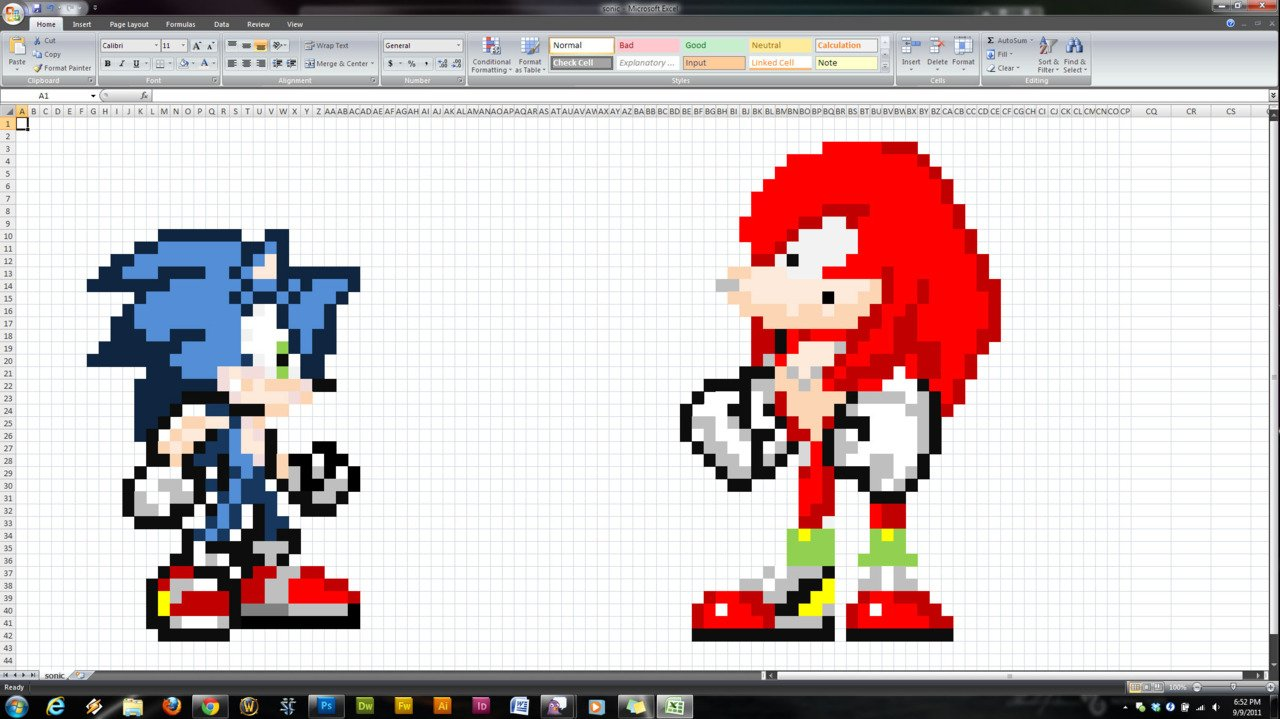sonic spreadsheet art