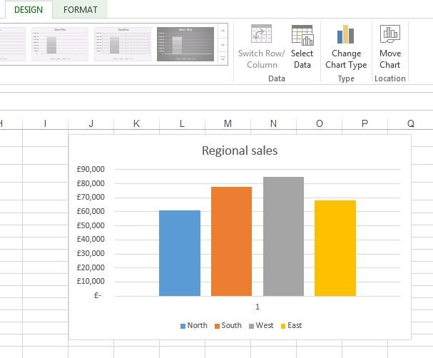 stacked column chart excel