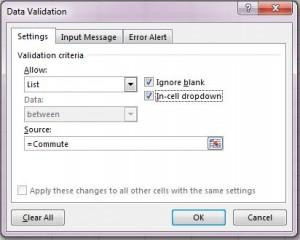 data validation options