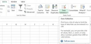 select data validation