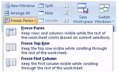 How to freeze panes in excel freeze panes options in excel ccuart Images