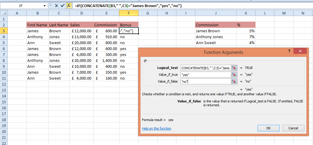 Using The Concatenate Function In Excel
