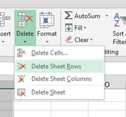 how to have excel sheet bring first row down