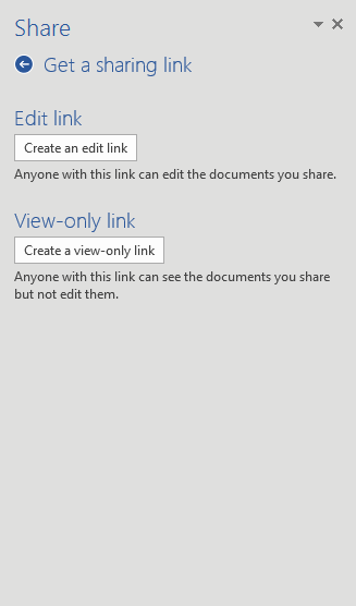 Link - edit choices
