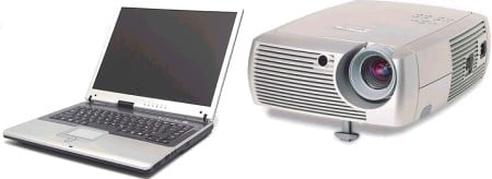 notebook laptops data projector